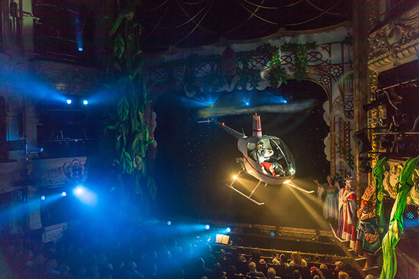 Theatre Special Effects Flying Helicopter The Twins Fx